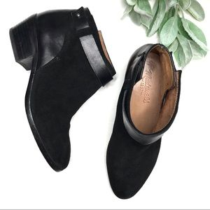 MADEWELL | sz 6 black ankle booties